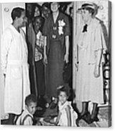Eleanor Roosevelt Visiting A Wpa Works Acrylic Print