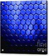 Electric Blue Circle Bumps Acrylic Print
