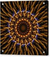 Electric Mandala 3 Acrylic Print