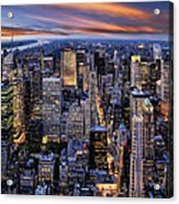 Electric Nyc Acrylic Print by Kelley King