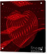 Electric Red Heart 3 Acrylic Print