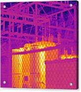 Electrical Substation Acrylic Print