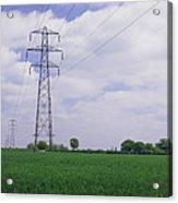 Electricity Pylons Acrylic Print