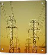 Electricity Pylons Acrylic Print