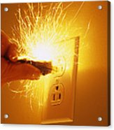 Electrocution Hazard Acrylic Print