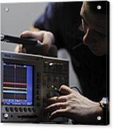 Electronics Technician Troubleshoots An Acrylic Print
