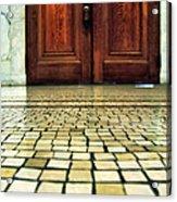 Elegant Door And Mosaic Floor Acrylic Print