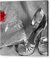 Elegant Night Out In Selective Color Acrylic Print by Mark J Seefeldt