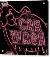 Elephant Car Wash Neon Acrylic Print