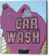 Elephant Car Wash Acrylic Print