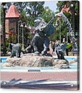 Elephant Fountain Acrylic Print
