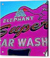 Elephant Super Car Wash Boost Acrylic Print