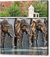 Elephants Of The Mandir Acrylic Print