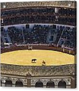 Elevated View Of Bullring Acrylic Print by Axiom Photographic