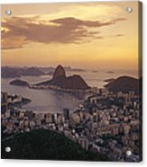 Elevated View Of Rio De Janeiro Acrylic Print