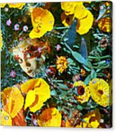 Elfin Child Of Poppies Acrylic Print by Cyoakha Grace