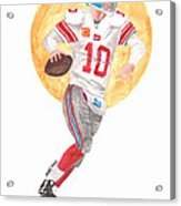 Eli Manning Superbowl Xlvi Mvp Acrylic Print