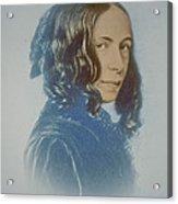 Elizabeth Barrett Browning, English Poet Acrylic Print