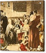 Elizabeth Fry 1780-1845 Was An English Acrylic Print by Everett