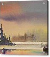 Elk Island Sundown 1 Acrylic Print