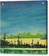 Elk Island Sundown 2 Acrylic Print
