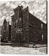 Elkhorn Ghost Town Public Halls 3 - Montana Acrylic Print
