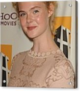 Elle Fanning At Arrivals For 15th Acrylic Print by Everett