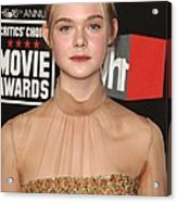 Elle Fanning At Arrivals For 16th Acrylic Print