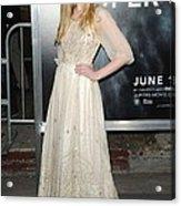 Elle Fanning Wearing A Vintage Dress Acrylic Print