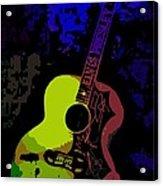 Elvis Gibson J200 Guitar Acrylic Print
