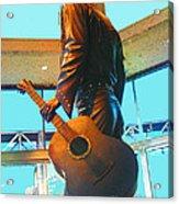 Elvis In Bronze At Memphis Acrylic Print