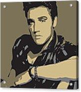 Elvis Presley - Pop Art Portrait Acrylic Print