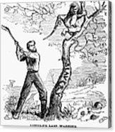 Emancipation Cartoon, 1862 Acrylic Print