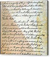 Emancipation Proc., P. 2 Acrylic Print by Granger