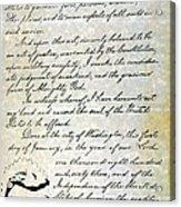 Emancipation Proc., P. 4 Acrylic Print
