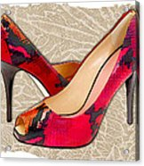 Embossed Leather Reptile Pumps  Acrylic Print