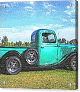 Emerald Green 1936 Ford Pickup Acrylic Print