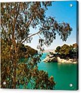 Emerald Lake With Duke House I. El Chorro. Spain Acrylic Print