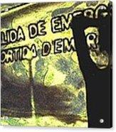 Emergency Exit - Arte Silueta Tren Acrylic Print