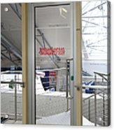 Emergency Exit At An Airport Acrylic Print