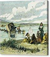 Emigrants In Nebraska, 1859 Acrylic Print by Granger
