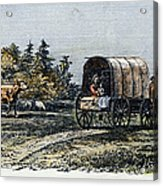 Emigrants To Ohio, 1805 Acrylic Print