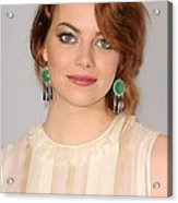 Emma Stone Wearing Irene Neuwirth Acrylic Print by Everett