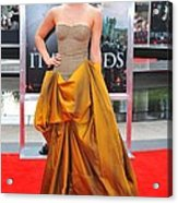 Emma Watson Wearing A Bottega Veneta Acrylic Print by Everett