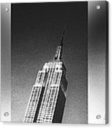 Empire State Black And White Acrylic Print