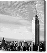 Empire State Building Bw16 Acrylic Print