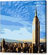 Empire State Building Color 16 Acrylic Print