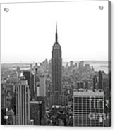 Empire State Building In Black And White Acrylic Print