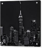 Empire State Building Lightning Strike II Acrylic Print