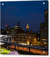 Empire State From High Line Acrylic Print